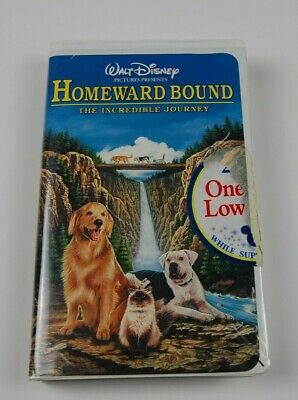 "Walt Disney ""Homeward Bound The Incredible Journey"".VHS.Original Owner Ship Free"