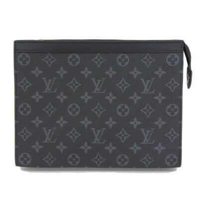 1494521cbaf4 LOUIS VUITTON VOYAGE MM Eclipse Monogram Split Pochette Bag Clutch ...