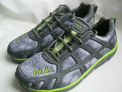 fa0056e2562 Huk Attack Performance Fishing Shoes Gray and Green Mens Size 8 Brand New