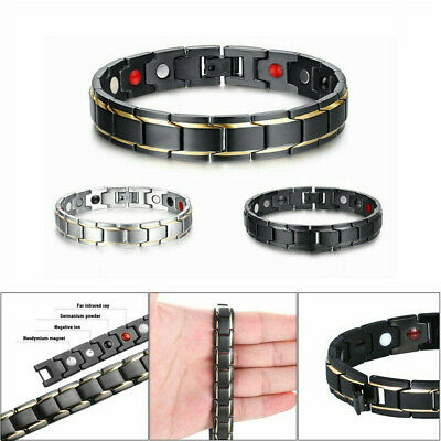 Therapeutic Energy Healing Bracelet Stainless Steel Magnetic Therapy Bracelet AP