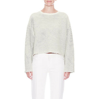 a1f664d907 THEORY CROPPED SWEATER Top Tamrist Prosecco Boxy Pullover Sz M ...
