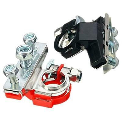 Car Top-Post Battery Cable Terminal Positive/Negative Clamp Connector Kit 12V