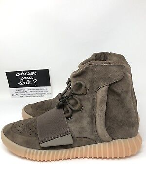 d17e573809fce Adidas Yeezy 750 Boost Light Brown Size 10.5 Gum Chocolate Kanye West NEW  BY2456