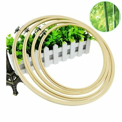 "Simple Wooden Cross Stitch Machine Embroidery Hoop Ring Bamboo Sewing 5-11.8"" BE"