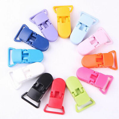 10pcs Colorful Plastic Suspender Soother Pacifier Holder Dummy Clips For Newborn