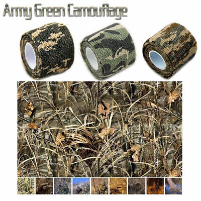 5cmx4.5m Army Camo Tape Adhesive Wrap Cloth Stealth Hunting Camouflage Airsoft