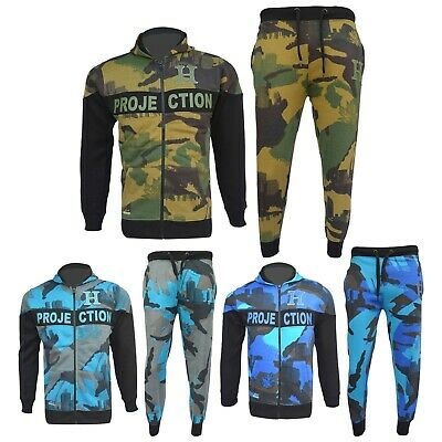 Kids Boys Girls Designer's Tracksuit Zipped Top Bottoms Jogging Suits 7-13 Years