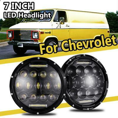 """A Pair DOT Round 7/"""" INCH 156W LED Headlights For Chevrolet G10 20 30 C10 20"""