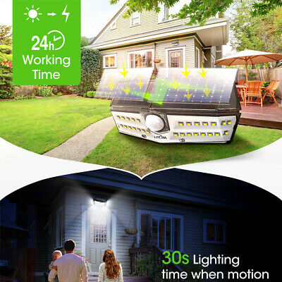 Mpow Ultra Bright 42 LED Solar Power Light Outdoor Garden Garage Patio Wall Lamp
