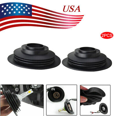 "2X 1.25/"" Headlight Dust Cover for HID LED Conversion Kit Bulb Seal Cap H4 H7 USA"