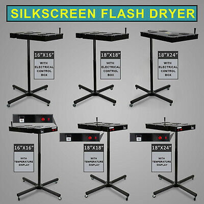 16/18/24 inch Flash Dryer Silk Screen Printing Equipment T-Shirt Curing DIY