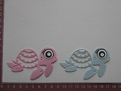 Die cuts - Turtles Sea Creatures  Embellishments Childrens Birthday Baby Lot 1