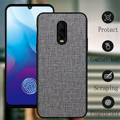 For OnePlus 6T 6 5T Hybrid Shockproof Fabric Texture Soft TPU Back Case Cover