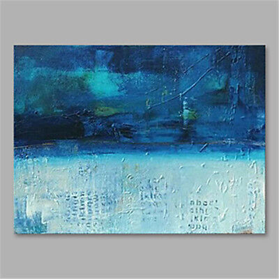 Modern Fashion Home Decor Art Abstract Blue HandPainted Oil Painting On Canvas