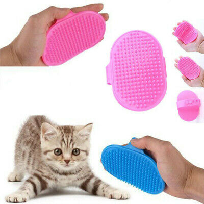 Rubber Pets Brush Glove Touch Deshedding Gentle Grooming Dogs Bath Accessories