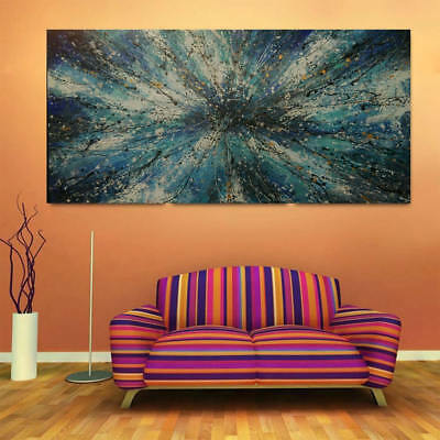 Huge Modern Abstract HandPainted Oil Painting Living Room Decor Art Canvas Gift