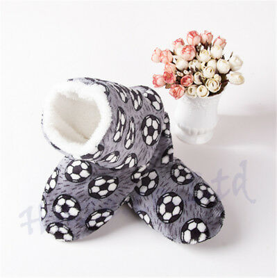 Womens Football Warm Fleece Fur Lined Slipper Ankle Boots Booties Bootee New