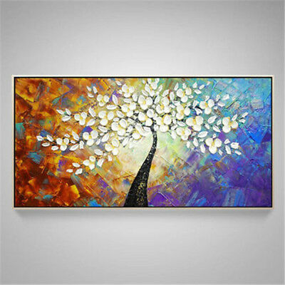 Modern Home Decor Wall Canvas Art Abstract Tree  Pure HandPainted Oil Painting
