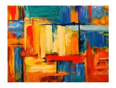 Modern Abstract Color HandPainted Oil Painting Canvas Home Decor Wall Art Gifts