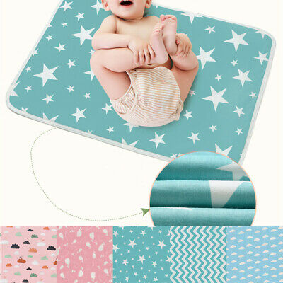 50*70cm Reusable Baby Infant Waterproof Mat Bed Nappy Cover Change Urine Pad AU