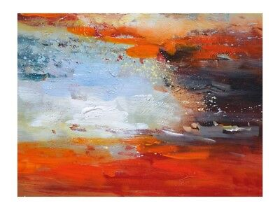 Large Abstract Modern Hand-Painting Home Decor Canvas Art Wall Oil Painting Gift