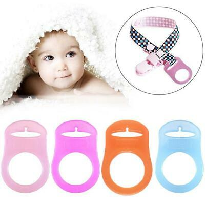 4PCS Baby O-rings Silicone Dummy Pacifier Chain Clips Adapter Holder for MAM