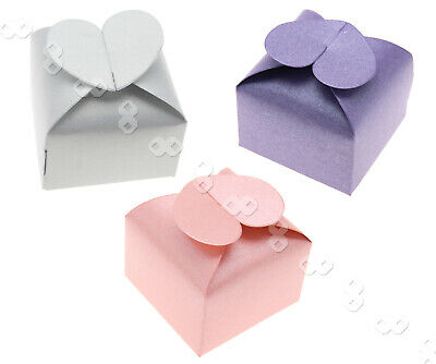 50pcs favorisent cadeau coeur Candy Box Wedding Party douches nuptiales Pearl