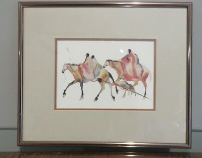 "Carol Grigg ""Last Flight"" American Indian Framed Printed Double Matted"