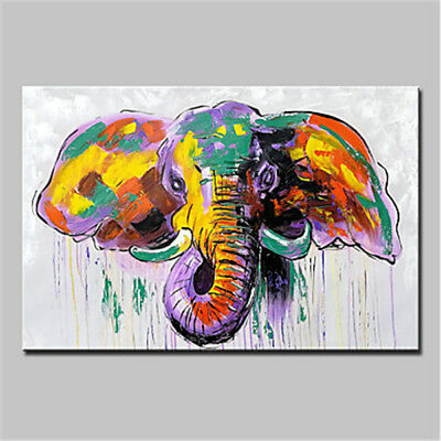 Modern Art Home Decor Wall Abstract HandPainted Elephant Oil Painting On Canvas