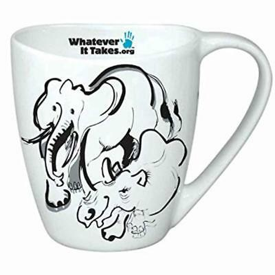 RONNIE WOOD 'Whatever It Takes' SAVE THE ELEPHANTS Tea Mug