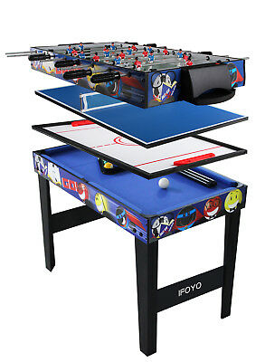 """4 in 1 Multi Game Table for Kids 31.5"""" Steady Combo Game , Soccer Foosball Table"""