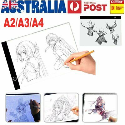 A2 A3 A4 LED Artist Thin Art Stencil Board Light Box Tracing Board Table