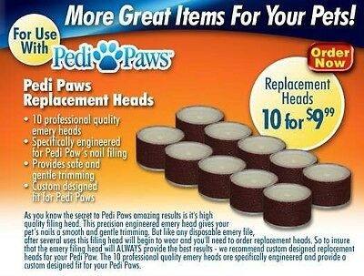 10 Pack Refill Emery Board Wheels for Pedi Paws Pet Nail Trimmer System PediPaw