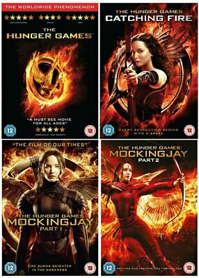 The Hunger Games Quadrology Complete 1-4 DVD Collection NEW REGION 2 FREE UK