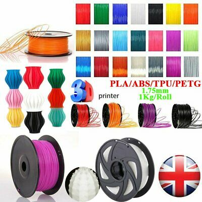 1.75mm 3D Printer Filament  PLA ABS Wood PETG TPU 1KG Engineer Drawing Art  NSW!