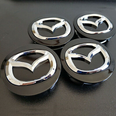 4PCS 57mm Wheel Center Hub Caps Rim Logo Badge Emblem Sticker Fits For Mazda 3
