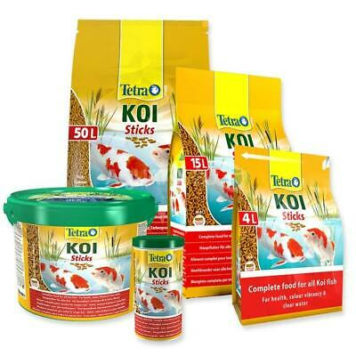 Tetra Pond Koi Sticks - Enhances Fish Colour and Health - 1L, 4L & 10L Sizes