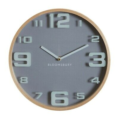 Hunter Grey Wooden Oversized Numbers Wall Clock