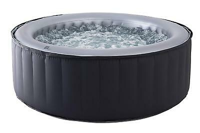 MSpa Silver Cloud 4 Person Portable Inflatable Round Bubble Hot Tub Spa Jacuzzi
