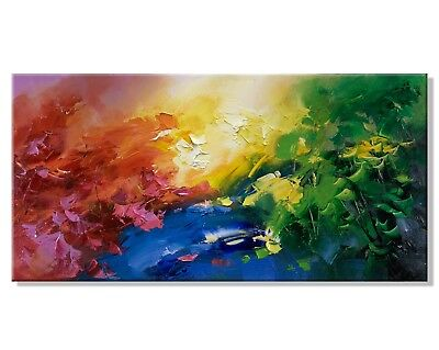 Modern Simple HandPainted Abstract Oil Painting Home Decor Canvas Art Wall Gift