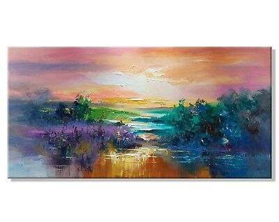 Abstract Modern HandPainted Abstract Scenery Oil Painting Home Decor Canvas Art
