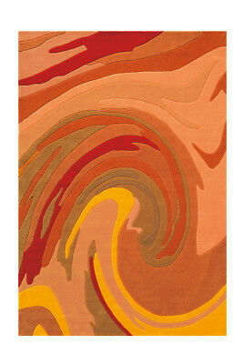 ARTE ESPINA TAPIS Moderne Salon Tapis Vagues Design Rouge / Orange 120x180