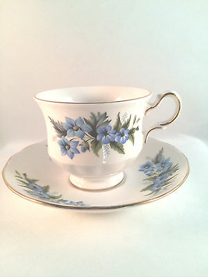 Vintage QUEEN ANNE Tea Cup & Saucer Set Bone China Footed Made in England