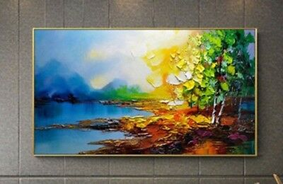 Modern Abstract Art Scenery HandPainted Oil Painting Home Decor Wall On Canvas