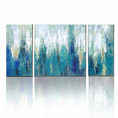 3PCS Modern Abstract Simple Home Decor Wall Art HandPainted Oil Painting Canvas