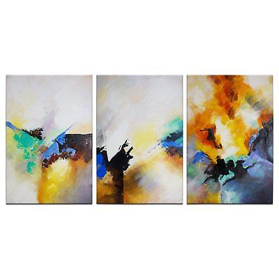 3PCS Huge Modern Abstract Home Decor Wall Art HandPainted Oil Painting Canvas