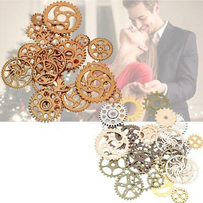 Wholesale Steampunk Skull Cross Gear Pendant Charms For Bracelet Jewelry Finding