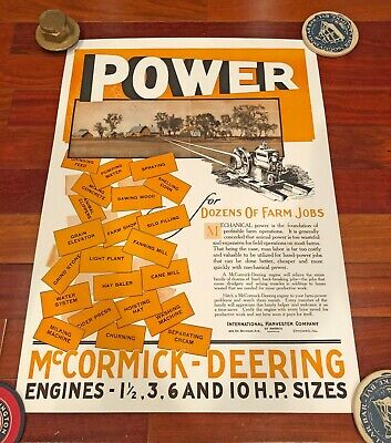 New 18x24 large print: IHC McCormick Deering hit miss gas engine poster sign