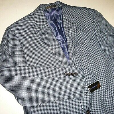 andrew fezza mens two button slim sports coat blazer suit jacket - 40S - blue