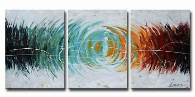 3PCS Modern Abstract Home Decor Wall Art Pure HandPainted Oil Painting Canvas